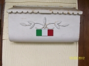Italian flag colors adhesize sticker bar