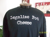 Legalize Pot Cheese adult crewneck sweatshirt