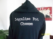 Legalize Pot Cheese adult hoodie