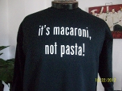 it's macaroni, not pasta! adult crewneck sweatshirt