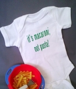 """It's Macaroni Not Pasta"" Onesie"