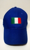 Baseball Cap with Italian Flag - Blue