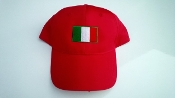 Baseball Cap with Italian Flag- Red