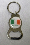Irish Flag Keychain and Bottle Opener