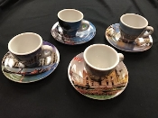 Italy Espresso Cup and Saucer - Set of 4